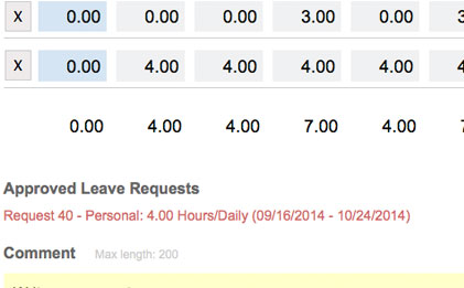leave request timesheet